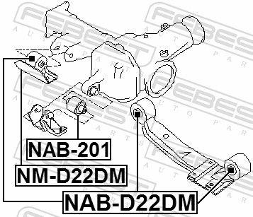 Lagerung, Differential FEBEST NAB-201 Bewertung