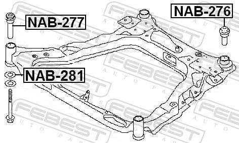 Mounting, axle beam FEBEST NAB-281 rating