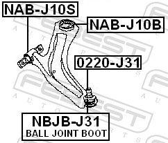 Querlenkerbuchse FEBEST NAB-J10B Bewertung