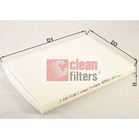Filter, interior air Height: 23mm with OEM Number 1H0 819 644
