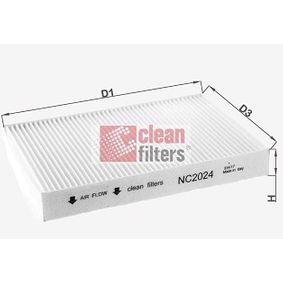 Filter, Innenraumluft NC2024 CLIO 2 (BB0/1/2, CB0/1/2) 1.5 dCi Bj 2006