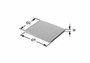 CLEAN FILTER  NC2076CA Filter, Innenraumluft Höhe: 26mm