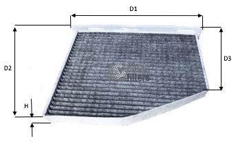 CLEAN FILTER  NC2129CA Filter, Innenraumluft Höhe: 34mm