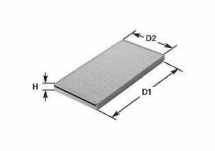 CLEAN FILTER  NC2195 Filter, Innenraumluft Höhe: 27,8mm