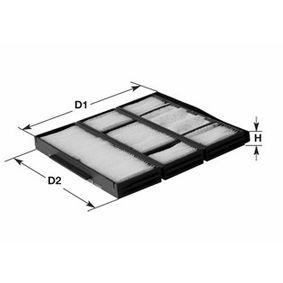 Filter, Innenraumluft Höhe: 34mm mit OEM-Nummer 6431 6945 586