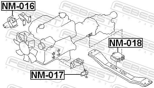 Motoraufhängung FEBEST NM-018 Bewertung