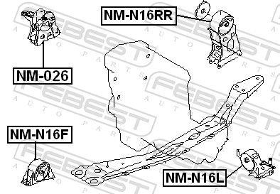 Motoraufhängung FEBEST NM-026 Bewertung