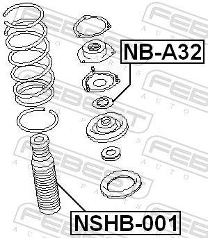 Schutzkappe / Faltenbalg, Stoßdämpfer FEBEST NSHB-001 Bewertung