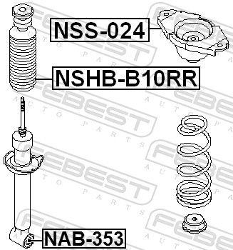 Schutzkappe / Faltenbalg, Stoßdämpfer FEBEST NSHB-B10RR Bewertung