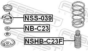 Schutzkappe / Faltenbalg, Stoßdämpfer FEBEST NSHB-C23F Bewertung