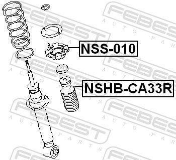 Schutzkappe / Faltenbalg, Stoßdämpfer FEBEST NSHB-CA33R Bewertung