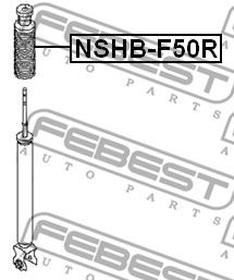 Protective Cap / Bellow, shock absorber FEBEST NSHB-F50R rating