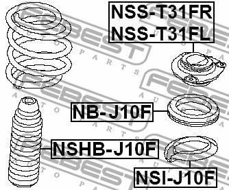 Protective Cap / Bellow, shock absorber FEBEST NSHB-J10F rating
