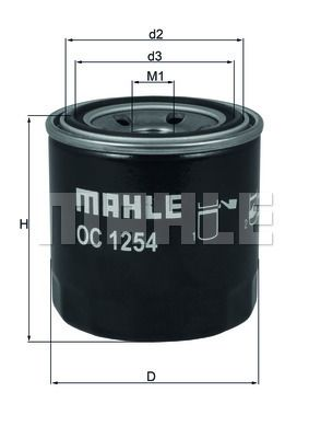 KNECHT  OC 1254 Ölfilter Ø: 76,0mm, Ø: 76,0mm, Höhe: 80mm
