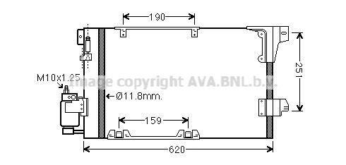 PRASCO  OLA5251D Kondensator, Klimaanlage Kältemittel: R 134a