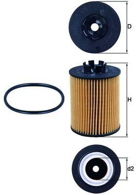Motorölfilter OX 173/2D KNECHT 0072381128 in Original Qualität