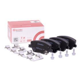BREMBO  P 23 170 Bremsbelagsatz, Scheibenbremse Breite: 132,9mm, Höhe: 58,5mm, Dicke/Stärke: 19,2mm