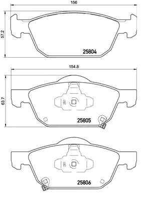 Disk Pads BREMBO 25805 8020584112724