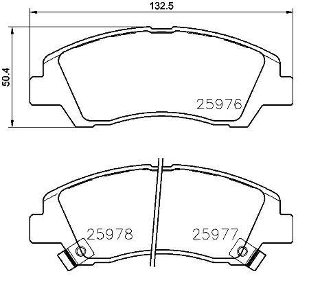 Bremsklötze BREMBO P30076 8020584081174
