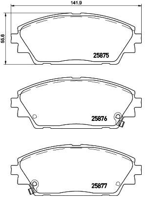 Disk Pads BREMBO 25876 8020584080061