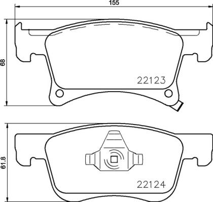 Bremsbeläge P 59 083 BREMBO D21399407 in Original Qualität