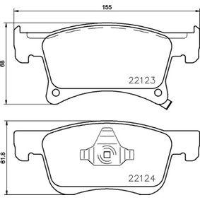 Bremsbelagsatz, Scheibenbremse Breite: 155mm, Höhe 1: 61,8mm, Höhe 2: 68mm, Dicke/Stärke: 17,8mm mit OEM-Nummer 1605281