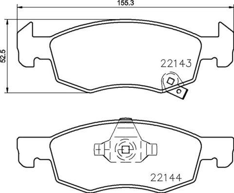 Bremsbelagsatz BREMBO 22124 Bewertung