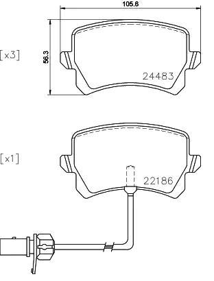 Brake Pads P 85 142 BREMBO D13489196 original quality