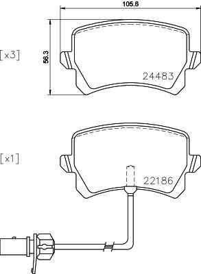 Disk brake pads BREMBO 22186 rating