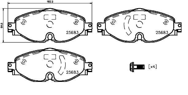 Les plaquettes de frein BREMBO P85147 8020584081259