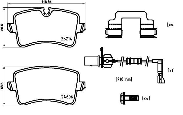 Les plaquettes de frein BREMBO P 85 150 8020584084045