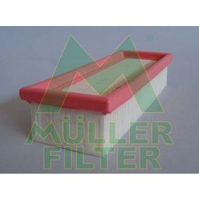 Luftfilter Länge: 230mm, Breite: 89mm, Höhe: 49mm mit OEM-Nummer 1444 P8