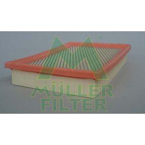 MULLER FILTER  PA280 Luftfilter Länge: 245mm, Breite: 179mm, Höhe: 40mm