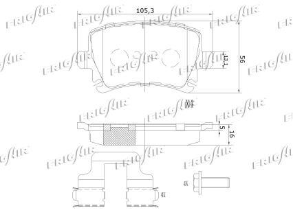 Bremsbelagsatz FRIGAIR PD10.507 Bewertung
