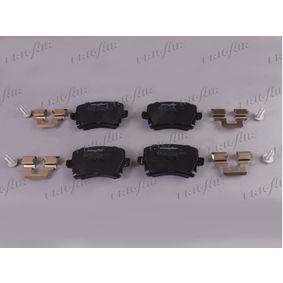 Bremsbelagsatz, Scheibenbremse Breite: 105,3mm, Höhe: 55,9mm, Dicke/Stärke: 17mm mit OEM-Nummer 1K0698451H
