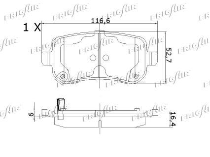 Bremsbelagsatz FRIGAIR PD18.508 Bewertung