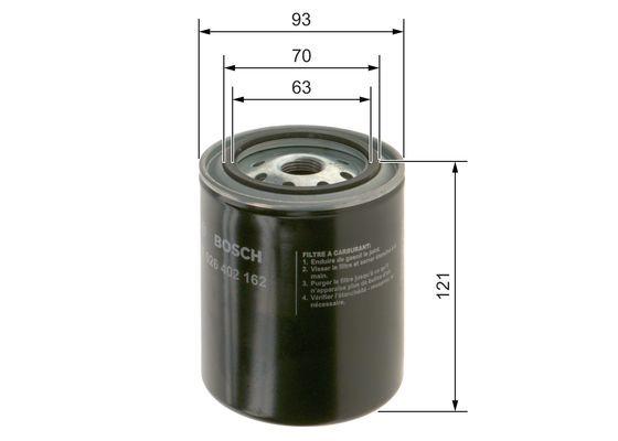 BOSCH  1 457 433 064 Luftfilter Länge: 213mm