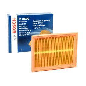 Luftfilter Länge: 216mm, Breite: 166mm, Höhe: 32mm, Länge: 216mm med OEM Nummer 2S61 9601 CA