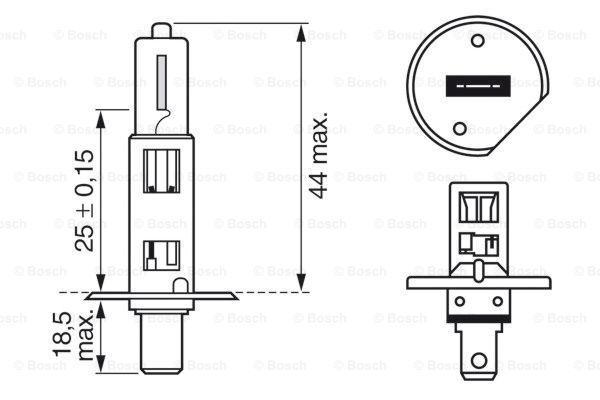 Glühlampe, Fernscheinwerfer BOSCH Box2pcs1987301404 3165141238433