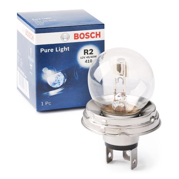 Bulb, spotlight 1 987 302 023 BOSCH 12V4540WR2PURELIGHT original quality