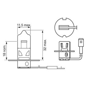 Fernscheinwerfer Glühlampe VW PASSAT Variant (3B6) 1.9 TDI 130 PS ab 11.2000 BOSCH Glühlampe, Fernscheinwerfer (1 987 302 038) für