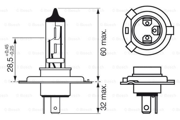 Article № 12V6055WH4PURELIGHT BOSCH prices