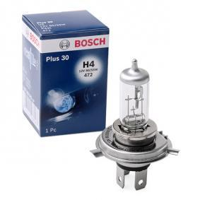 Glühlampe, Fernscheinwerfer H4, 60/55W, 12V 1 987 302 042 VW GOLF, PASSAT, POLO