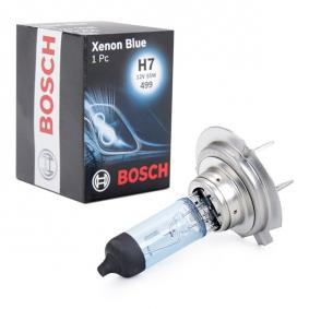 BOSCH Glühlampe, Fernscheinwerfer 1 987 302 075 für AUDI A4 (8E2, B6) 1.9 TDI ab Baujahr 11.2000, 130 PS
