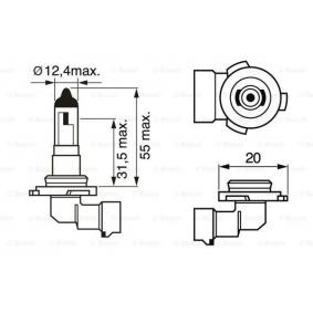 Glühlampe, Nebelscheinwerfer H10, PY20d, 42W, 12V 1 987 302 083