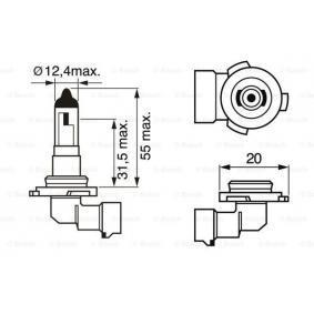 Bulb, fog light H10, PY20d, 42W, 12V 1 987 302 083 VAUXHALL ASTRA, CORSA, INSIGNIA