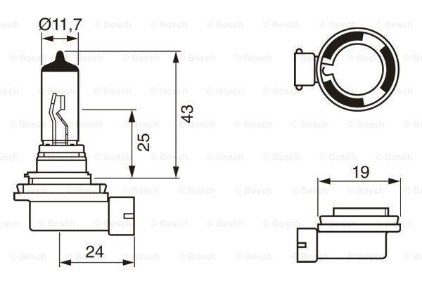Article № 12V55WH11PURELIGHT BOSCH prices