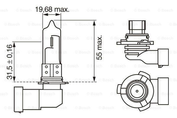 Glühlampe, Fernscheinwerfer BOSCH HB3 Bewertung
