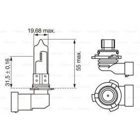 Крушка с нагреваема жичка, фар за дълги светлини HB4, 51ват, 12волт 1 987 302 153 VW GOLF, PASSAT, POLO