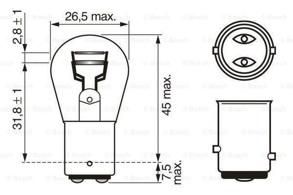 Lámpara, luz intermitente 1 987 302 202 BOSCH 12V215WP215WPURELIGHT en calidad original